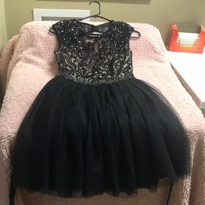"Black short ""say yes to the dress"" dress"